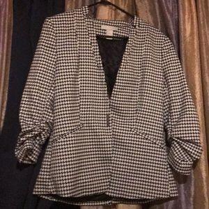 H&M houndstooth blazer size 12